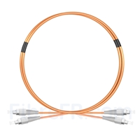 Image de 1M FC UPC vers FC UPC Duplex 2,0mm PVC (OFNR) OM1 Jarretière Optique Multimode
