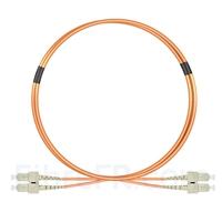 Image de 1m SC UPC vers SC UPC Duplex 2,0mm PVC (OFNR) OM1 Jarretière Optique Multimode