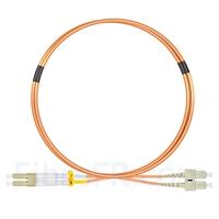 Image de 1m LC UPC vers SC UPC Duplex 2,0mm PVC (OFNR) OM1 Jarretière Optique Multimode