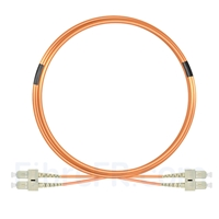 Image de 5m SC UPC vers SC UPC Duplex 2,0mm PVC (OFNR) OM1 Jarretière Optique Multimode