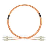 Image de 3m SC UPC vers SC UPC Duplex 2,0mm PVC (OFNR) OM1 Jarretière Optique Multimode