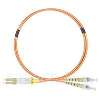 Image de 1m LC UPC vers ST UPC Duplex 2,0mm PVC (OFNR) OM1 Jarretière Optique Multimode