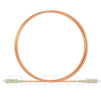 Image de 2m SC UPC vers SC UPC Simplex 2,0mm PVC (OFNR) OM1 Jarretière Optique Multimode