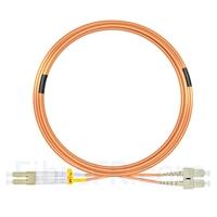 Image de 15m LC UPC vers SC UPC Duplex 3,0mm PVC (OFNR) OM1 Jarretière Optique Multimode