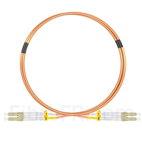 Image de 1m LC UPC vers LC UPC Duplex 2,0mm PVC (OFNR) OM2 Jarretière Optique Multimode