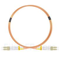 Image de 1m LC UPC vers LC UPC Duplex 2,0mm LSZH OM2 Jarretière Optique Multimode