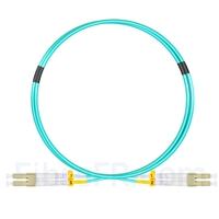Image de 1m LC UPC vers LC UPC Duplex OM3 PVC (OFNR) 2,0mm Jarretière Optique Multimode