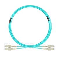 Image de 10m SC UPC vers SC UPC Duplex 3,0mm PVC (OFNR) OM4 Jarretière Optique Multimode