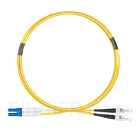 Image de 2m LC UPC vers ST UPC Duplex 2,0mm PVC (OFNR) OS2 Jarretière Optique Monomode