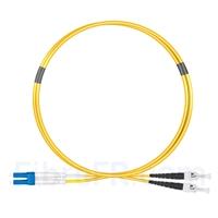 Image de 1m LC UPC vers ST UPC Duplex 2,0mm PVC (OFNR) OS2 Jarretière Optique Monomode