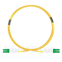 Image de 1m LC APC vers LC APC Duplex OS2 PVC (OFNR) 2,0mm Jarretière Optique Monomode