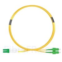 Image de 1m LC APC vers SC APC Duplex 2,0mm PVC (OFNR) OS2 Jarretière Optique Monomode