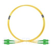 Image de 1m SC APC vers SC APC Duplex 2,0mm PVC (OFNR) OS2 Jarretière Optique Monomode