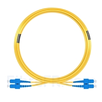 Image de 15m SC UPC vers SC UPC Duplex 3,0mm PVC (OFNR) 9/125 Jarretière Optique Monomode