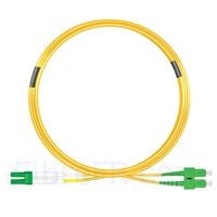 Image de 7m LC APC vers SC APC Duplex 3,0mm PVC (OFNR) 9/125 Jarretière Optique Monomode