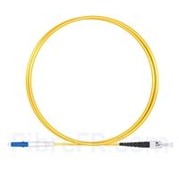 Image de 1m LC UPC vers ST UPC Simplex 2,0mm PVC (OFNR) OS2 Jarretière Optique Monomode