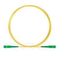 Image de 1m SC APC vers SC APC Simplex 2,0mm PVC (OFNR) OS2 Jarretière Optique Monomode