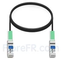 Image de 2m Brocade 100G-Q28-Q28-C-0201 Compatible Câble à Attache Directe Twinax en Cuivre Passif 100G QSFP28
