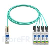 Image de 10m Brocade 100G-Q28-S28-AOC-1001 Compatible Câble Optique Actif Breakout QSFP28 100G vers 4 x SFP28