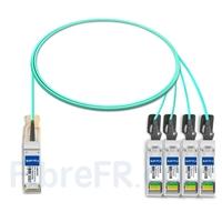 Image de 2m Dell AOC-Q28-4SFP28-25G-2M Compatible Câble Optique Actif Breakout QSFP28 100G vers 4 x SFP28