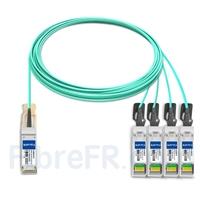 Image de 15m Dell AOC-Q28-4SFP28-25G-15M Compatible Câble Optique Actif Breakout QSFP28 100G vers 4 x SFP28