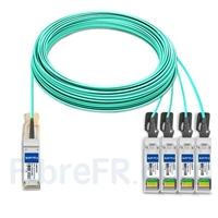 Image de 50m Dell AOC-Q28-4SFP28-25G-50M Compatible Câble Optique Actif Breakout QSFP28 100G vers 4 x SFP28