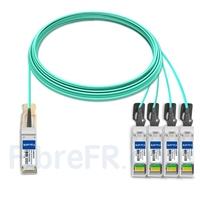 Image de 20m Extreme Networks 10444 Compatible Câble Optique Actif Breakout QSFP28 100G vers 4 x SFP28