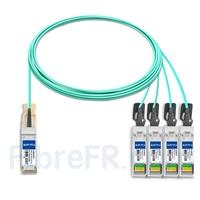Image de 7m H3C QSFP28-4SFP28-AOC-7M Compatible Câble Optique Actif Breakout QSFP28 100G vers 4 x SFP28