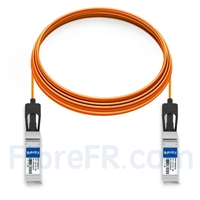 Image de 15m Dell Force10 CBL-10GSFP-AOC-15M Compatible Câble Optique Actif SFP+ 10G