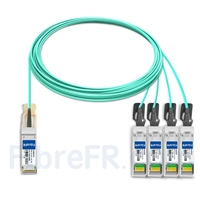 Image de 15m Brocade 40G-QSFP-4SFP-AOC-1501 Compatible Câble Optique Actif Breakout QSFP+ 40G vers 4 x SFP+