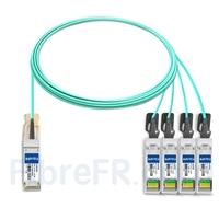Image de 5m Extreme Networks 10GB-4-F05-QSFP Compatible Câble Optique Actif Breakout QSFP+ 40G vers 4 x SFP+