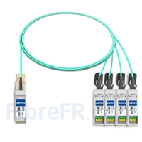 Image de 2m Extreme Networks 10GB-4-F02-QSFP Compatible Câble Optique Actif Breakout QSFP+ 40G vers 4 x SFP+
