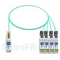 Image de 1m Fortinet FG-TRAN-QSFP-4XSFP Compatible Câble Optique Actif Breakout QSFP+ 40G vers 4 x SFP+