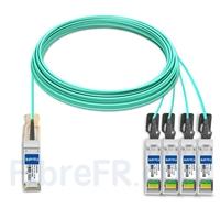Image de 30m H3C QSFP-4X10G-D-AOC-30M Compatible Câble Optique Actif Breakout QSFP+ 40G vers 4 x SFP+