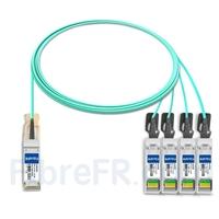 Image de 3m Juniper Networks JNP-QSFP-AOCBO-3M Compatible Câble Optique Actif Breakout QSFP+ 40G vers 4 x SFP+