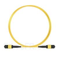 Image de 1m Senko MPO Femelle 12 Fibres OS2 9/125 Câble Trunk Monomode, Type B, Élite, LSZH, Jaune