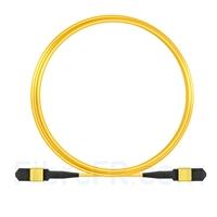Image de 5m Senko MPO Femelle 12 Fibres OS2 9/125 Câble Trunk Monomode, Type A, Élite, LSZH, Jaune