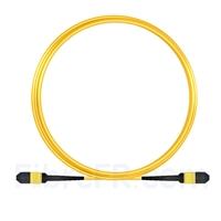 Image de 5m MPO Femelle 12 Fibres OS2 9/125 Câble Trunk Monomode, Type B, Élite, LSZH, Jaune
