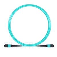 Image de 5m MPO Femelle 12 Fibres OM3 50/125 Câble Trunk Multimode, Type B, Élite, LSZH, Aqua