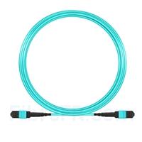 Image de 10m MTP-MTP Patch Cable Femelle 12 Fibres OM3 50/125 Multimode, Type A, Élite, Plénum (OFNP), Aqua