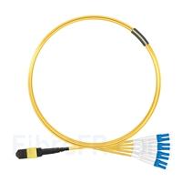 Image de 3m MTP Femelle vers 4 LC UPC Duplex 8 Fibres OS2 9/125 Câble Breakout Monomode, Type A, Élite, LSZH, Jaune