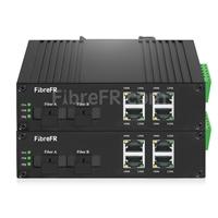 Image de 4x10/100Base-T RJ45 vers 1x100Base-X SFP Rainure SC Non géré Gigabit Ethernet Media Converter, Simplex, 1310nm/1550nm, 20km, Industrial