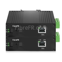 Image de Mini 2x10/100/1000Base-T RJ45 vers 1x 1000Base-X SFP Rainure SC Non géré Gigabit Ethernet Media Converter, Simplex, 1310nm/1550nm, 20km, Industrial