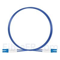 Image de 2m Câble Armé Acier LC UPC vers LC UPC Duplex OS2 Monomode PVC (OFNR) 3,0mm