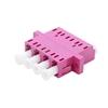 Image de Adaptateur à Fibre Optique/Manchon d'Accouplement Plastique LC/UPC vers LC/UPC 10G Quad Multimode OM4 avec Bride, Violet