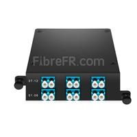 Image de Cassette MTP® FHD avec 12 Fibres OS2 Monomode, MTP®-12 vers 6x LC Duplex, Type A